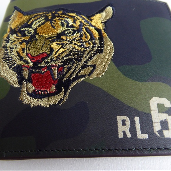 dc1fa51d Polo Ralph Lauren Leather Camo Tiger Wallet & Case NWT